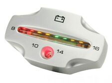 LED Voltmeter KOSO Digital, Aluminium, Anzeigebereich 8 - 16 Volt, silber