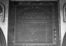 PHOTO  CHESTER & HOLYHEAD RAILWAYS TABLE OF TOLLS