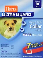 "Hartz Ultra guard Flea and Tick Collar for Puppies 20"" RED 7 Months Ultraguard"