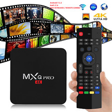 MXQ Pro 4K 3D Android 7.1.2 Quad Core Smart TV Box HDMI WIFI 17.6 w/ MX3 Remote