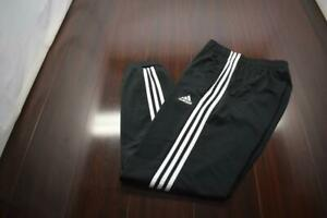42401 Mens Adidas Performance Striped Warm Up Tapered Track Sweat Pants Small