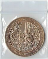 +1811 American Indian Confederation: Battle of Tippecanoe - Solid Bronze Medal