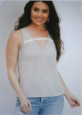 2b209d7e5dc2c Maurices With Tags Ivory Lace Strap Stripe Tank Size Medium
