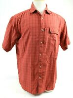 The North Face Men's Short Sleeve Outdoor Shirt Size Large Brick Red Checks