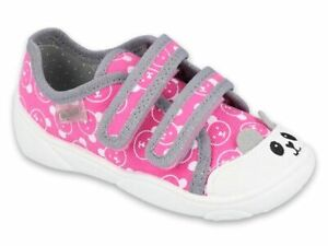 BABY KIDS BEFADO girls canvas shoes nursery slippers pumps size 2-8.5UK BOOTS