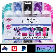 Tulip One Step - 5 Color Tie Dye Kit - CAROUSEL - Dyes up to 30 items