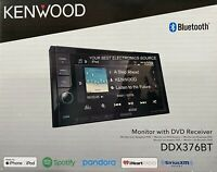 "NEW Kenwood DDX376BT 6.2"" Touch Screen, 2-DIN, CD/DVD w/ Bluetooth"