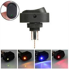 1pc Green LED Light 12V 30A Car Boat Auto Rocker SPST Toggle ON/OFF Switch FR