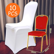 10X white Lycra Spandex Chair Covers Wedding Party Event Banquet Decoration