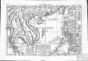 Antique maps, Les isles Philippines celle de Formose, le sud de la Chine, …