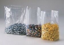 100 6x3x15 Clear GUSSETED Open Top Poly Bags 6 x 3 x 15 LDPE 1 Mil