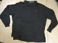 VTG 90s Men's Polo Ralph Lauren Sz XL Polo Shirt Long Sleeve Classic Fit Grey