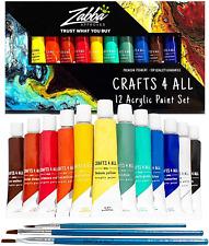 VERNICE Set 12 Craft vernice per carta Tela Legno Ceramica Tessuto Acrilico non tossici