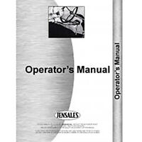 Engine Only Operator's Manual Fits New Holland TR75 Twin Rotor Combine Early