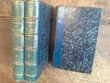 Oeuvres complètes de Molière en 3 tomes avec des remarques par Félix Lemaistre