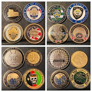 35 Challenge Coin Lot Police FBI USSS NYPD Misc. Assorted Coins