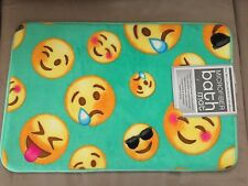 "Microfiber Bath Mat. Emoji, Smiley, Ideogram Print 16""x24"" New with tag"