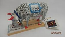 "COW PARADE MEDIUM VERY RARE ""HOUSTON CHRONICOW"" Houston Tx.U.S.A. 2001 Mint 9166"