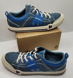 Womens 9 Merrell Rant Seaport Blue Momentum Casual Walking Shoes Sneakers J02242