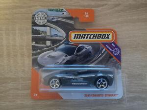 2020 Matchbox '15 Chevy Corvette Stingray - 1:64 1/64 MBX Highway 24/100 Grey