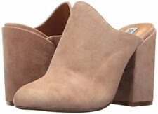 Steve Madden Womens Sinclaire Camel Suede Mules Size 6