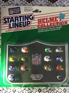 VTG NFL Starting Lineup  NFC Helmet Collection-lions &Cowboys & Bears Oh My-NIB