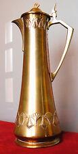 Beau pichet kanne jug pitcher WMF en laiton art nouveau jugendstil.