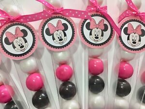 Disney Pink Minnie Mouse - Birthday Party Favor- Gumball Candy