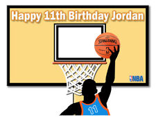 Basketball Edible Cake Image Icing Personalised Birthday Decoration Party Topper