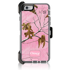 "OtterBox Defender iPhone 6 / 6S 4.7"" Case & Holster Realtree Camo Xtra Pink OEM"
