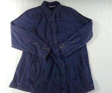 Joan Rivers 100% Cotton size small blue denim button-down long sleeve misc12