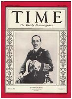Time Magazine July 23 1928 King Alfonso XIII Spain Norma Shearer