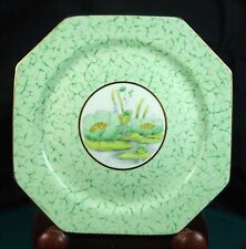 6 x Paragon Water Lily Green 6 1/2 Inch Tea Plates Circa 1930 Pattern No. S2272