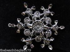 NEW SNOW WONDERS GARDEN SHOVEL HOE Snowflake Ornament Pendant