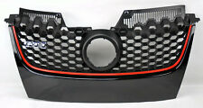 VW Jetta & GTI MK5 06-09 Black w/ Red Honeycomb Hex Mesh Front Grill