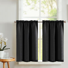 Kitchen Tier Curtains Cafe Curtains Waffle Textured Rod Pocket Small Drapes 2 Pc