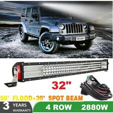 "2880W 32""inch Curved LED Light Bar Spot+Flood Combo for  Truck SUV ATV Ford"