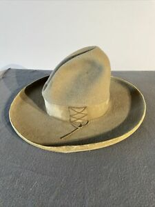 Wonderful Antique Cowboy Hat Early Type Not Spurs