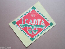Reproduction Luggage Label Sticker - Scadta Lineas Aereas