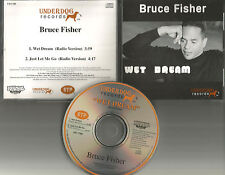BRUCE FISHER Wet Dream / Just let me go RARE RADIO VERSIONS  CD single USA 1995