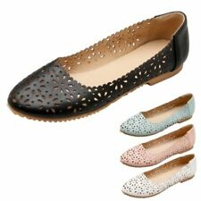 Boat Shoes Patternless Synthetic Leather Flats for Women