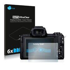 6x Displayschutzfolie für Canon EOS M50 Schutzfolie Klar Folie Displayfolie