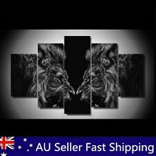 King Lion Framed Animal Abstract Picture Art Canvas Print Paintings Wall