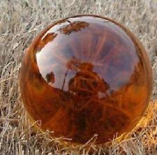 40mm Asian Rare Natural Quartz Amber Magic Crystal Healing Ball Sphere+Stand G02