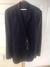 Ralph Lauren Navy Blue Blazer 2 Gold Button Sports Coat 100% Wool 42L GUC