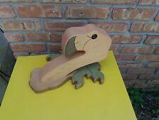 Wooden Flamingo Head Figurine Redwood Sea Bird Large 15' X 12' X 10'