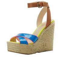 Enzo Angiolini Women's Shoes Nomas Wedge Sandal,Blue Multi,10 M US