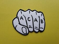 Novelty ACAB Biker Patch Iron on or Sew On Just For Fun ALL COPPERS ARE