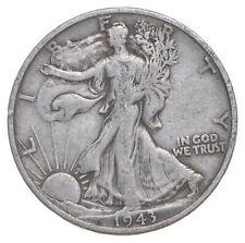 50c SHARP - 1943-S Walking Liberty 90% Silver US Half Dollar *599