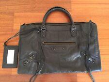 Authentic Balenciaga Classic Work Bag in Black Lambskin Leather MINT: WORN TWICE